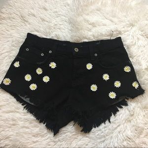 LF Carmar High Waisted Floral Embroidered Shorts